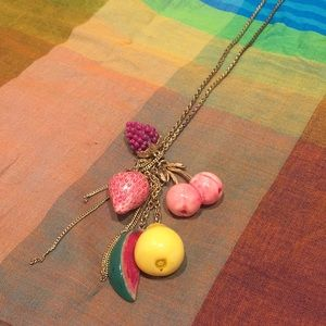 ALDO accessories fruit themed long necklace